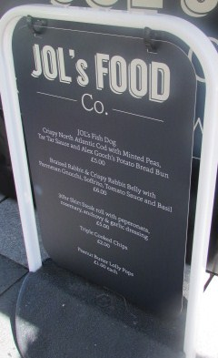 Jols Food Co menu – posh!