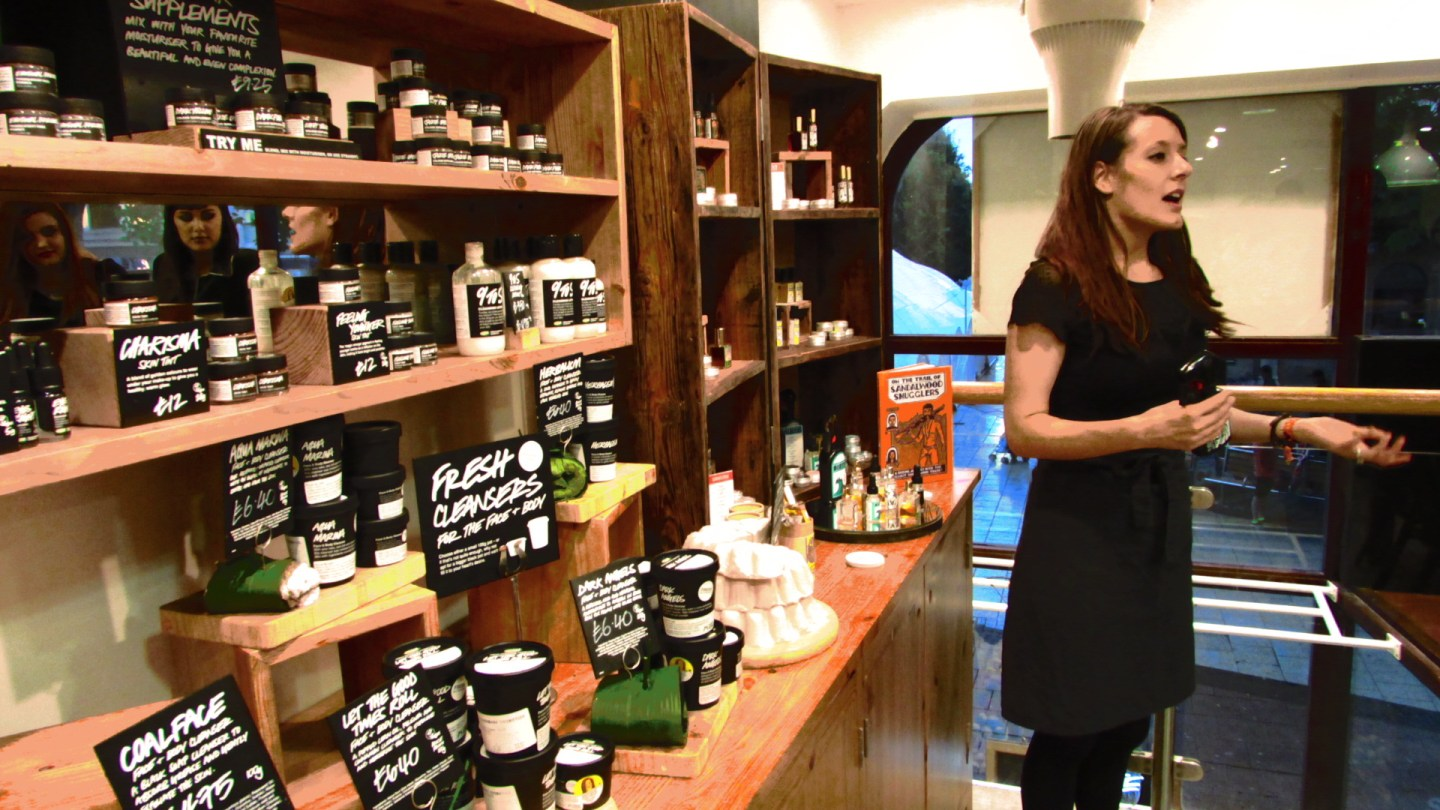 The 2014 Summer Collection from Lush, Cardiff