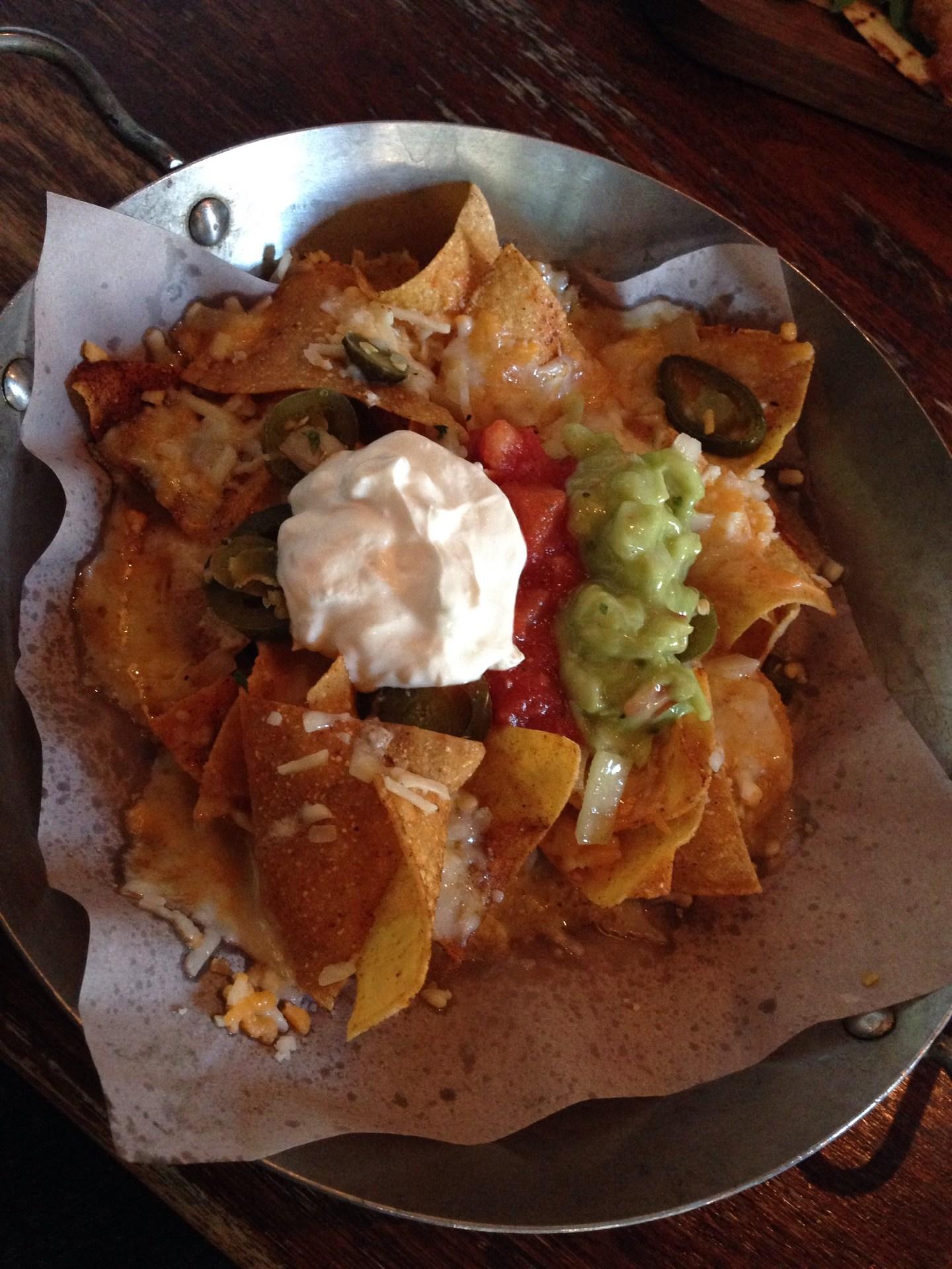 Loaded nachos at Las Iguanas, Mill Lane