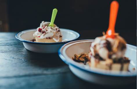 Summer dessert pies at Pieminister Cardiff