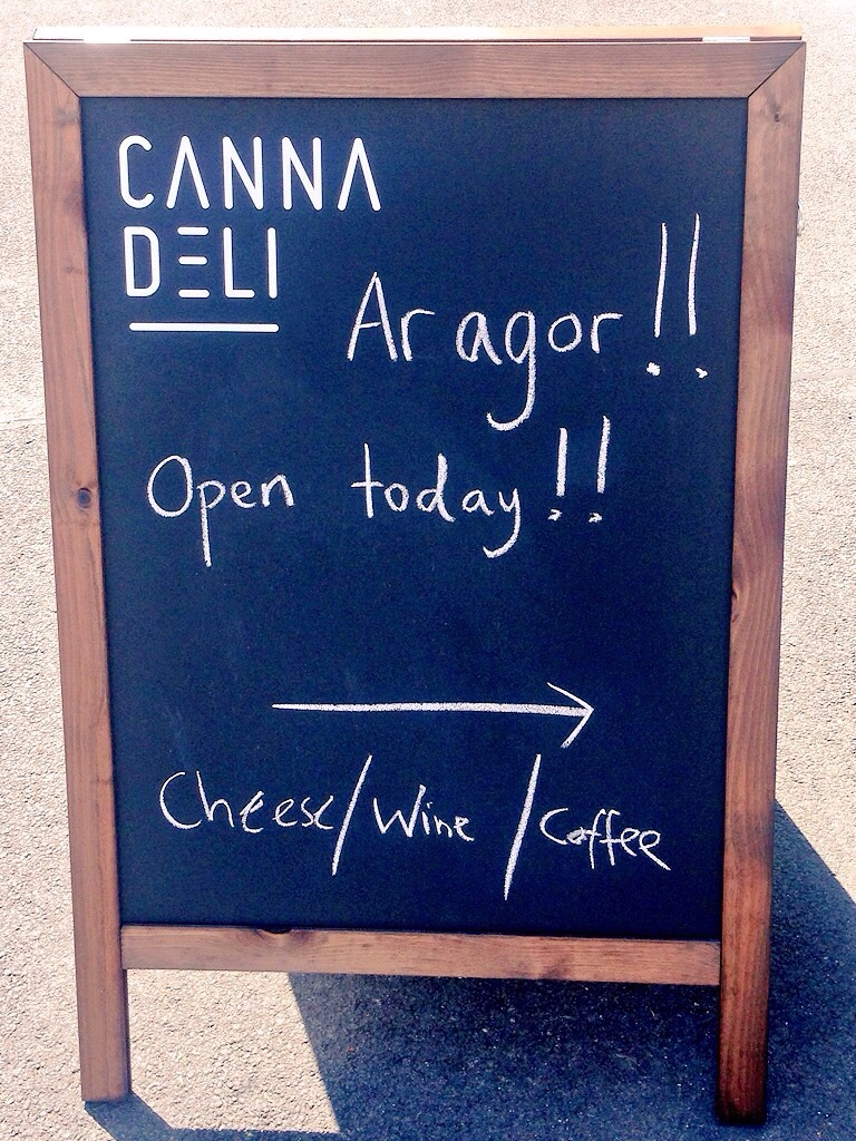 Opening day at the Canna Deli