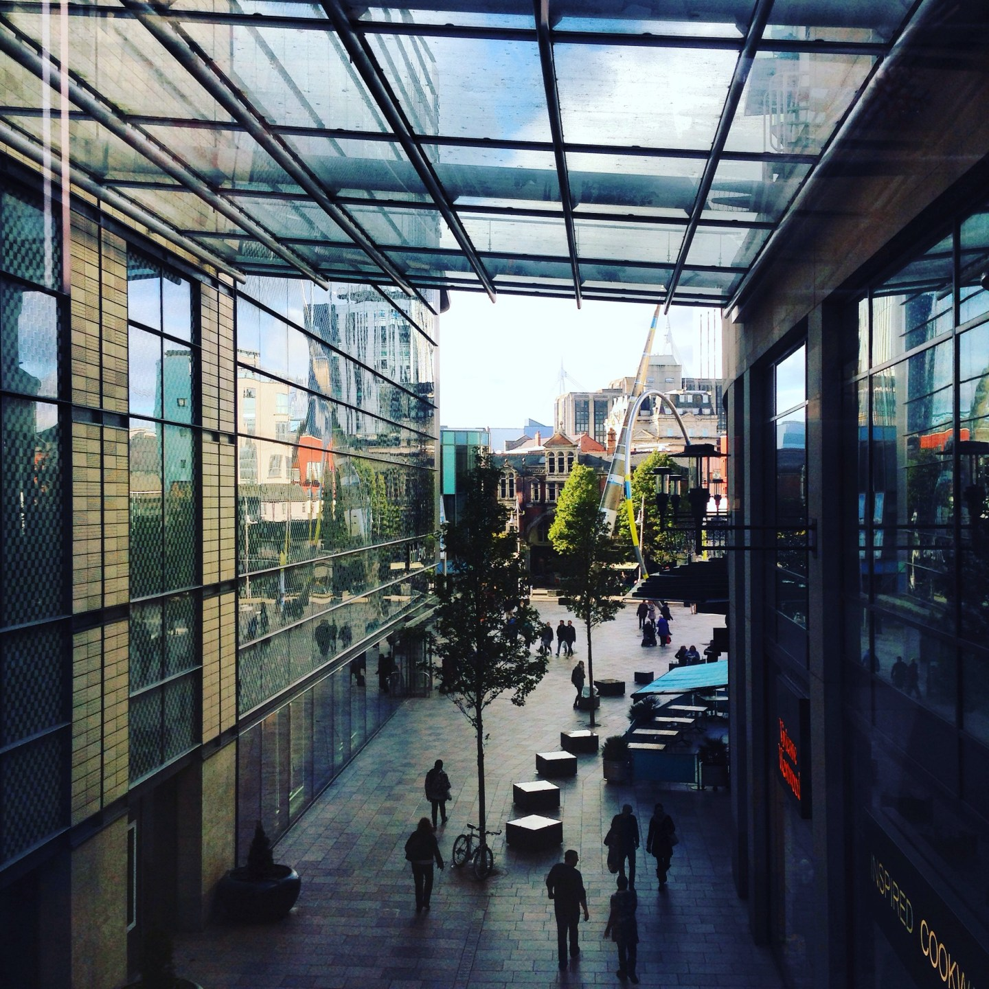 The view from St David's Arcade