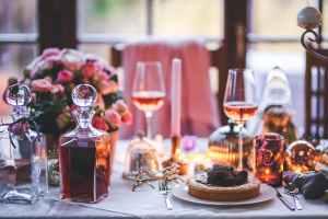 wine on table