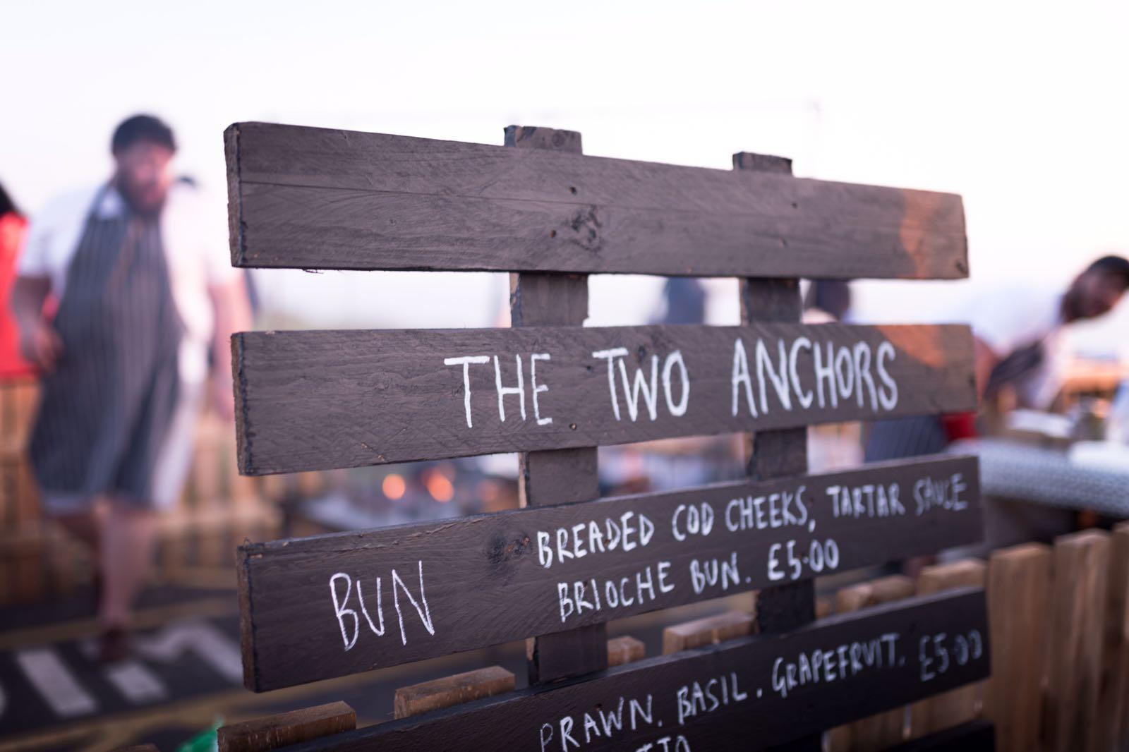 Two Anchors Menu