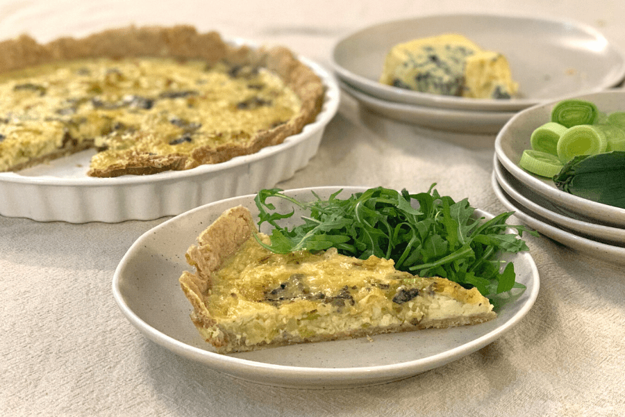 Recipe: The Tidy Kitchen's Caramelised Leek Tart with Walnut Pastry and Perl Las