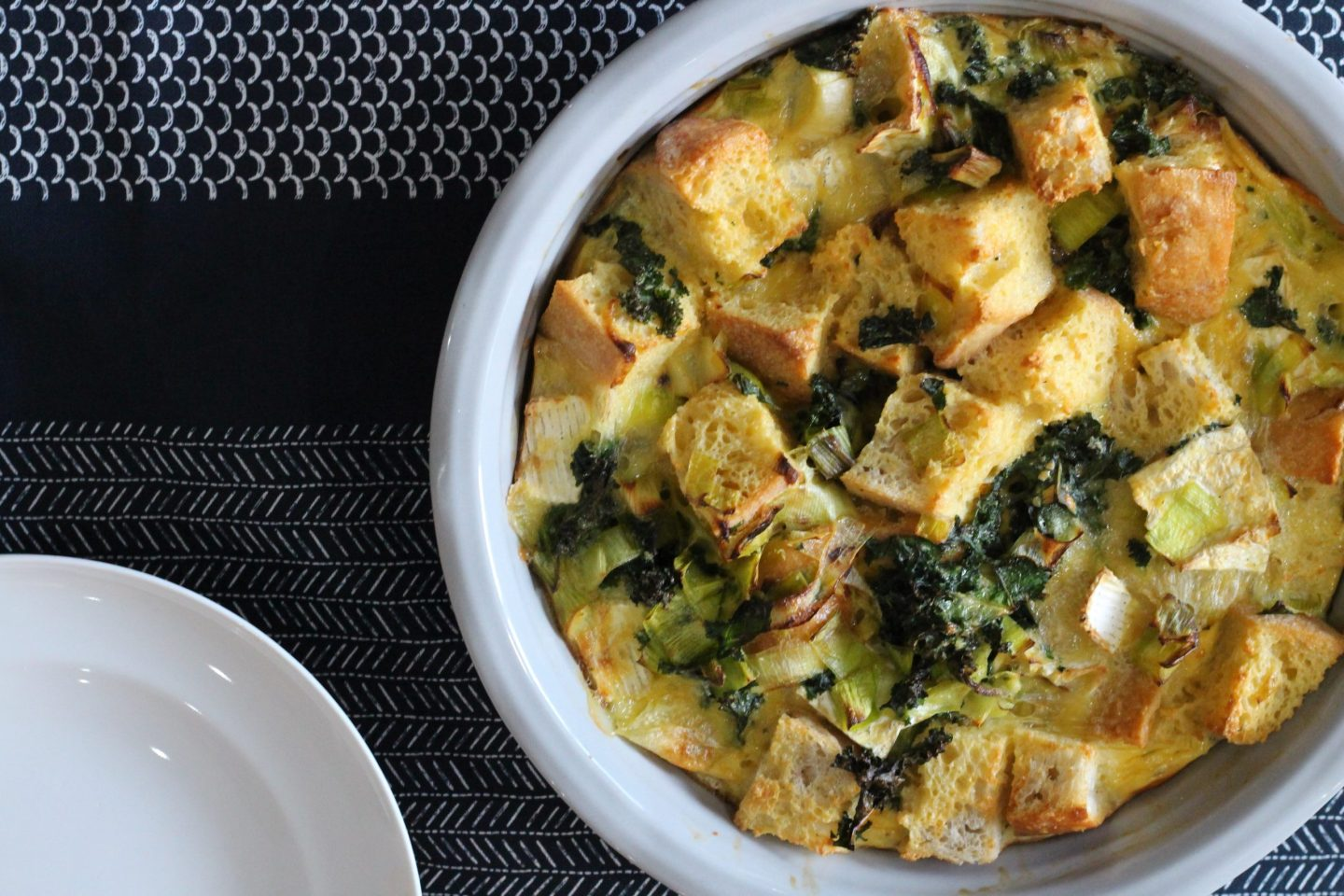 Recipe: The Tidy Kitchen's Kale & Pearl Wen Strata with British Leeks