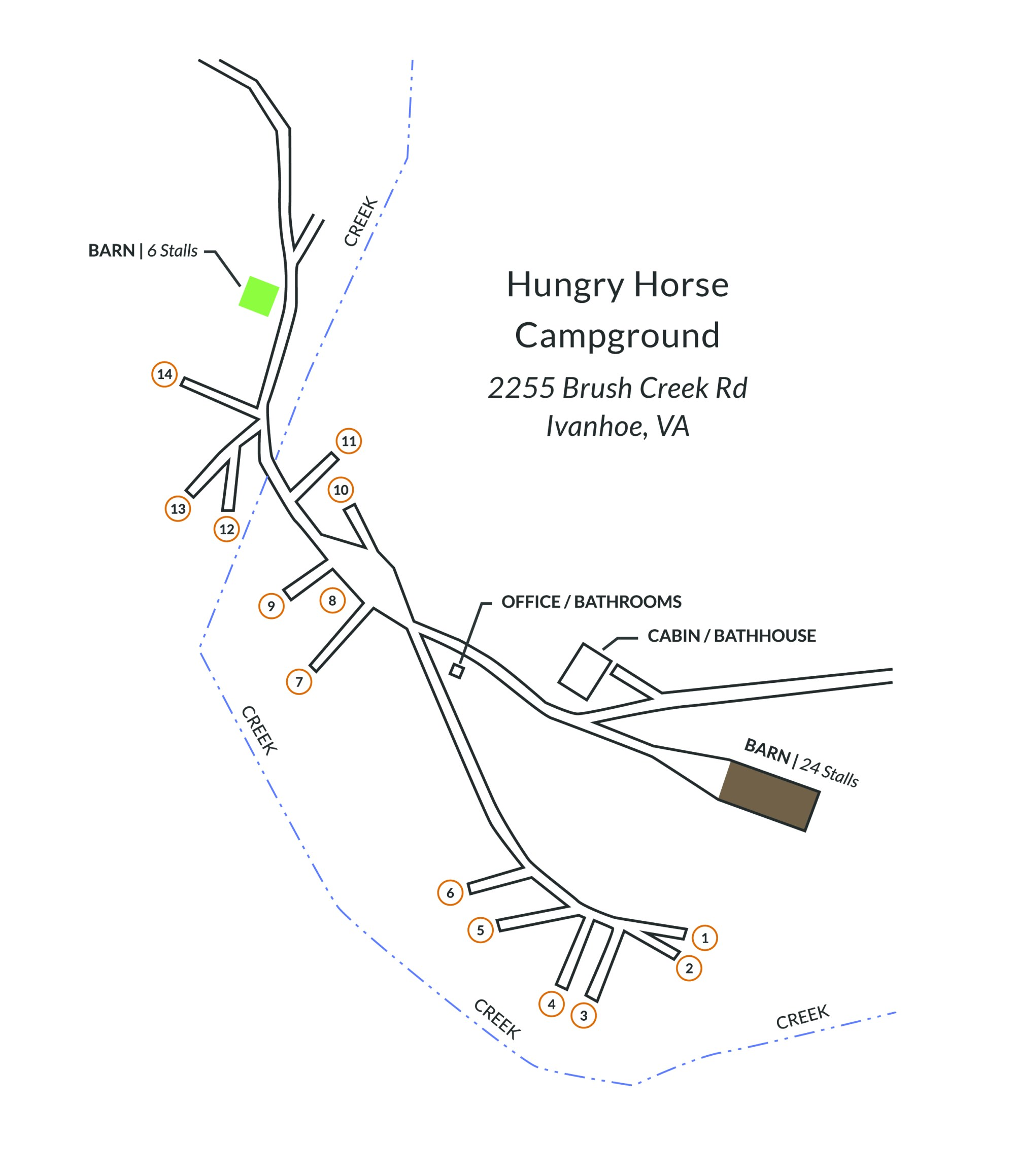 hight resolution of campground map
