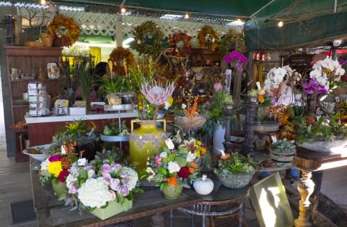 Fresh floral arrangements.