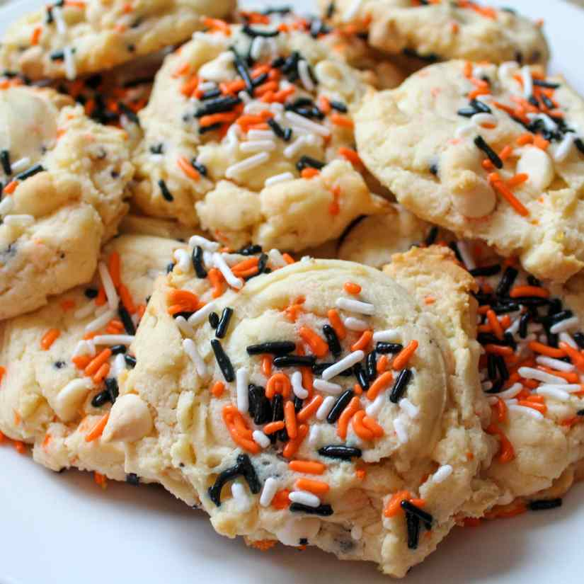Funfetti Cheesecake Halloween Cookies