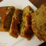 Eggless whole wheat  banana walnut bread