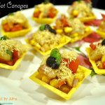 Indian chat canapés