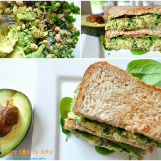 """Smashed Chickpea & Avocado Salad Sandwich"""