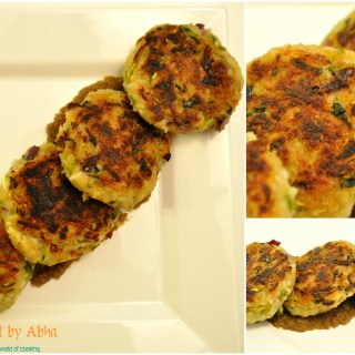 """Leftover rice and zucchini patties"""