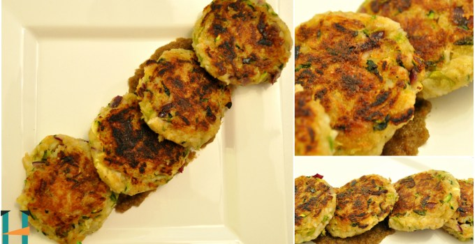 Leftover rice & zucchini patties