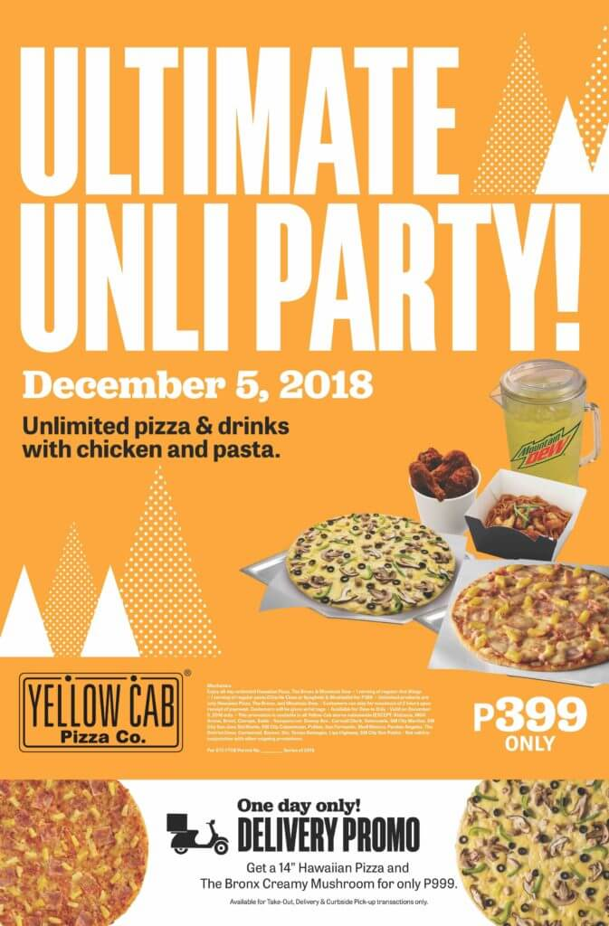 Yellow Cab Hungry Holiday Feast - Unli Part Hustlin Holiday