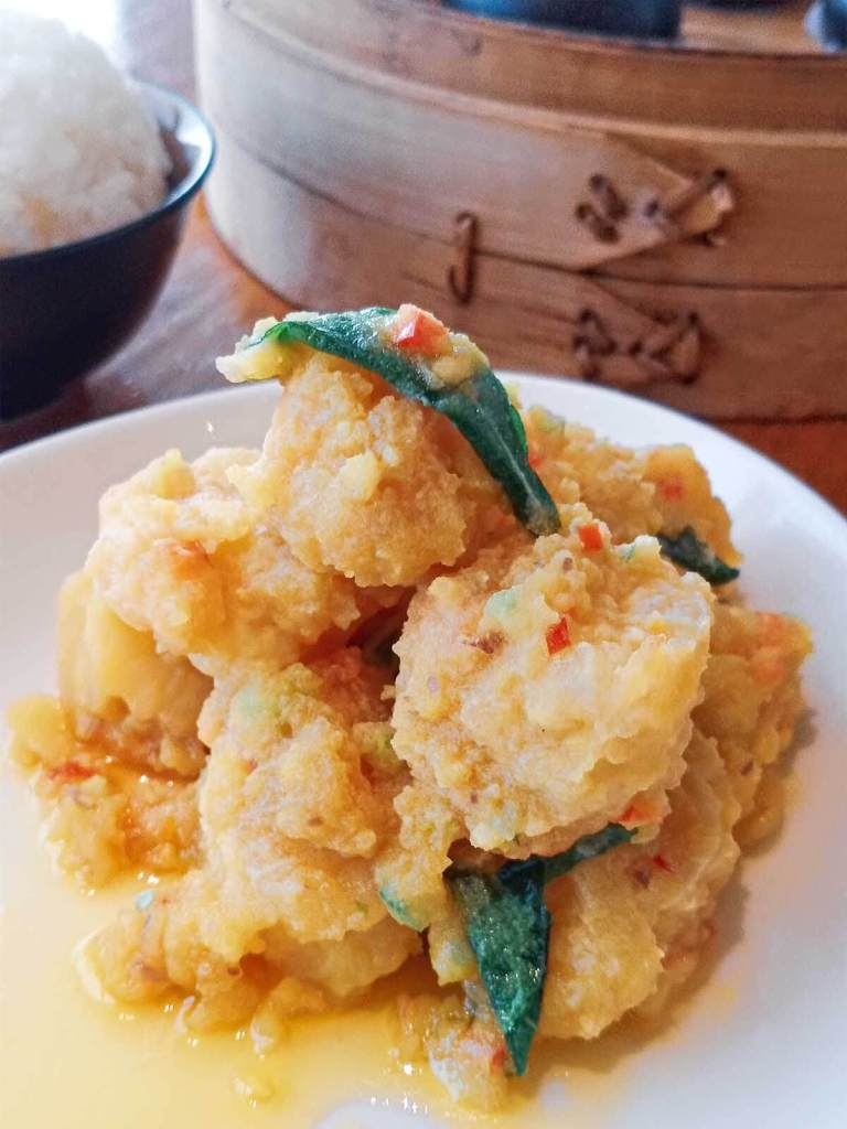 Paradise Dynasty S'Maison SM MOA Branch - Crystal Prawns in Salted Egg Yolk