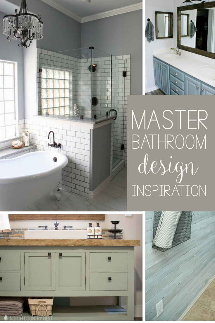 Farmhouse master bathroom design ideas and layout for Diy master bathroom ideas