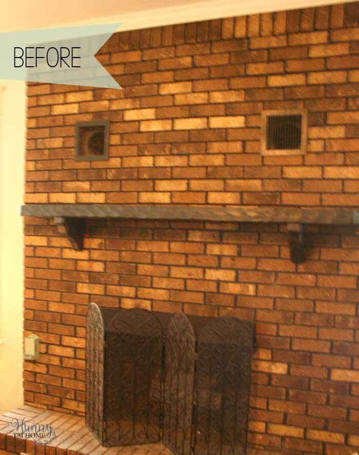 My diy farmhouse fireplace makeover for under 40 hunny im home farmhouse fireplace makeover farmhouse fireplace painted fireplace white fireplace whitewash fireplace solutioingenieria Choice Image