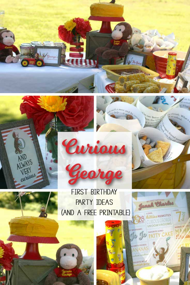 My Curious George Party With An Adorable Free Printable