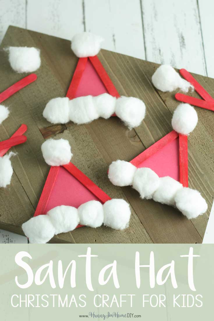 Popsicle Santa Hats A Simple Christmas Craft For Kids Hunny I M