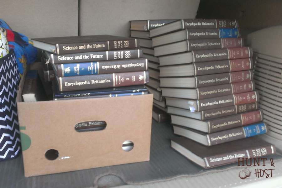 free book decor hunt and host