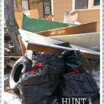 trash pile with door