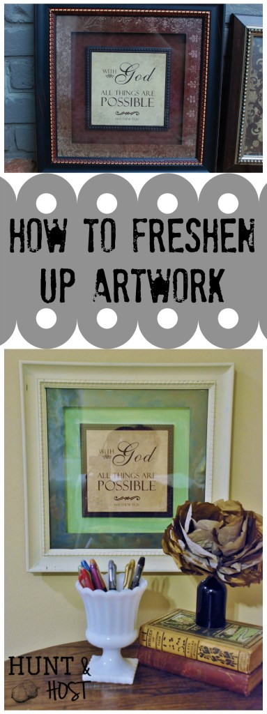 how to freshen up artwork