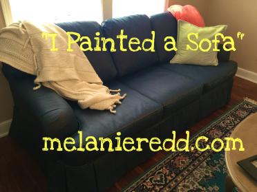 I Painted a Sofa – Really!