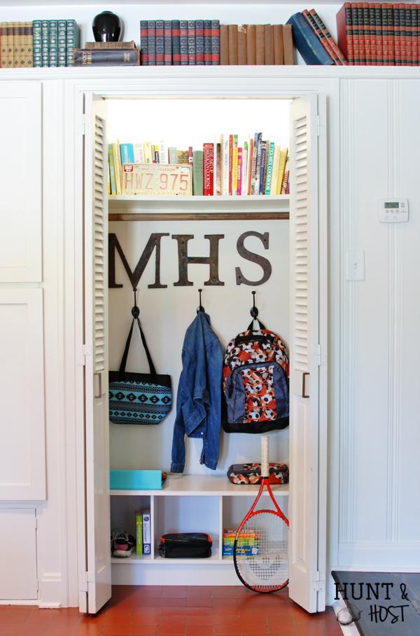 backpack organizing closet