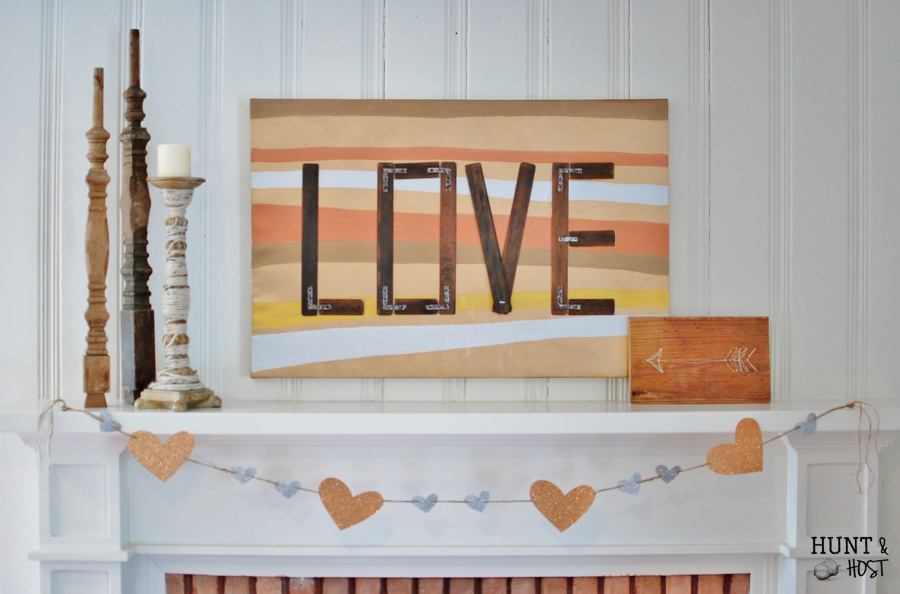 A mixed metal Valentine project made from garage sale finds. With the greatest message of Love. www.huntandhost.net