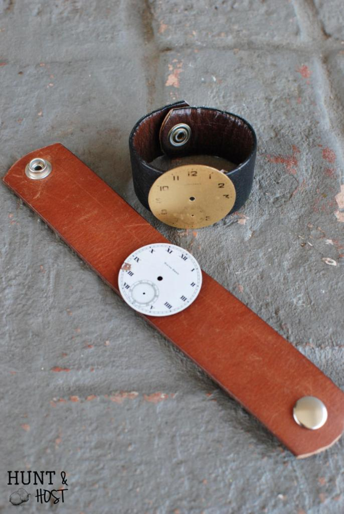 This watch face craft will have you looking hip in no time. How to make a watch face cuff bracelet.