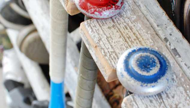 DIY Baseball Bat Rack Storage Solution