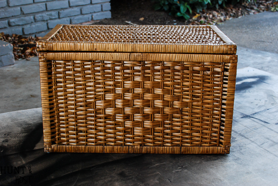 How To Paint Wicker Furniture Video Tutorial Hunt And Host