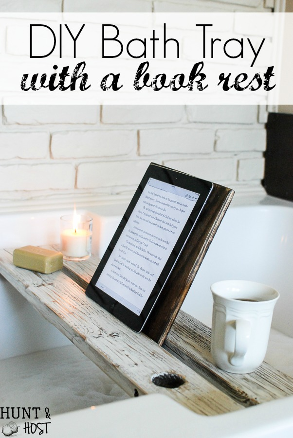 Bath Tray With Book Rest Hunt And Host