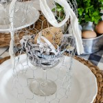 Easy spring decorating ideas from a DIY chicken wire cloche tutorial to newspaper nests. All you need for the most beautiful spring tablescape.