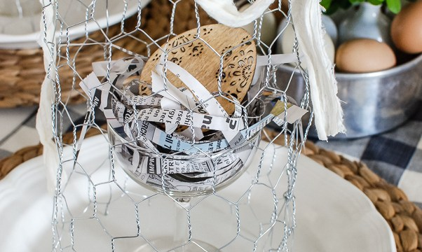DIY Chicken Wire Cloche Tutorial Spring Table Ideas