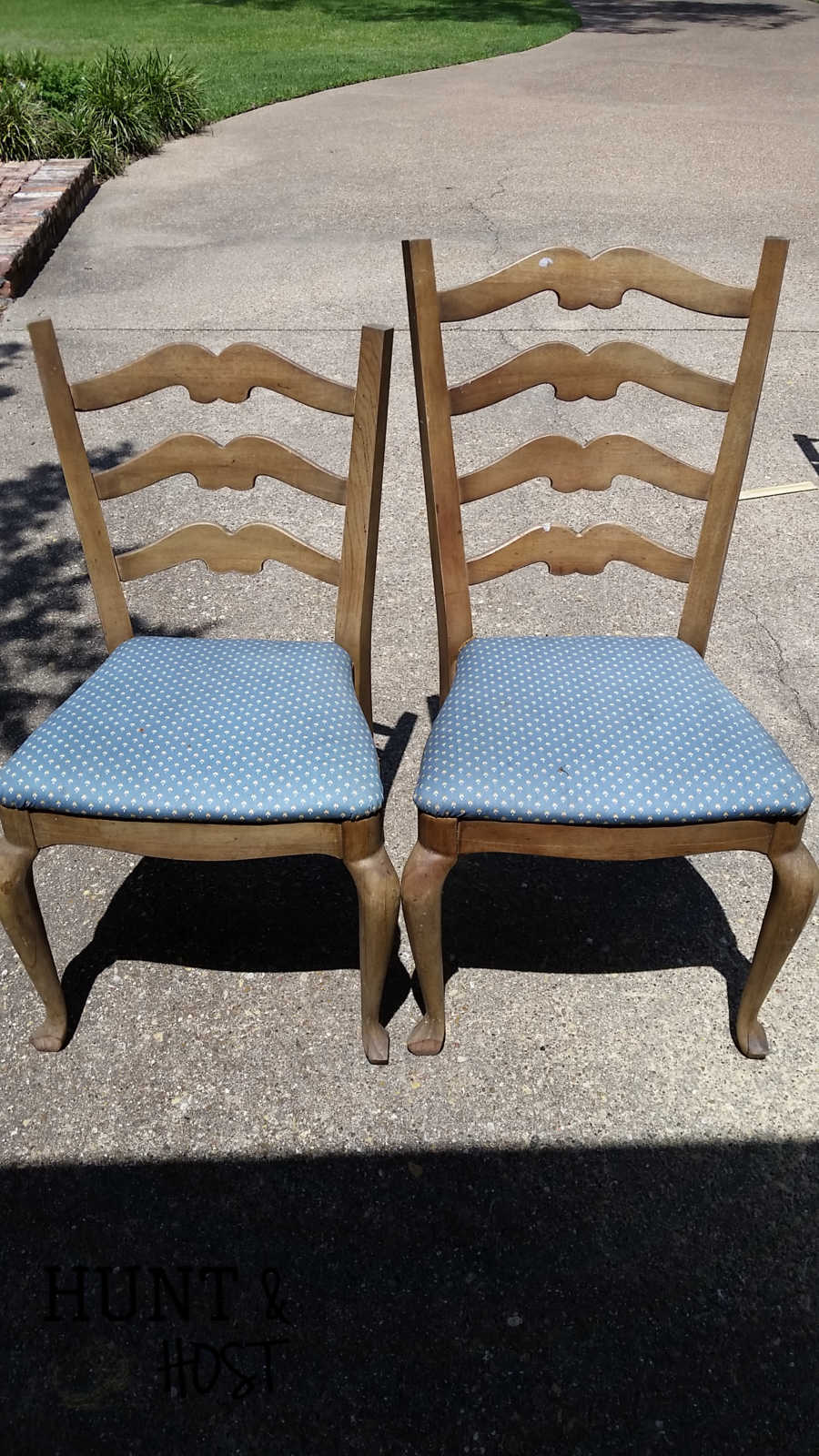 These chairs matched at one time but