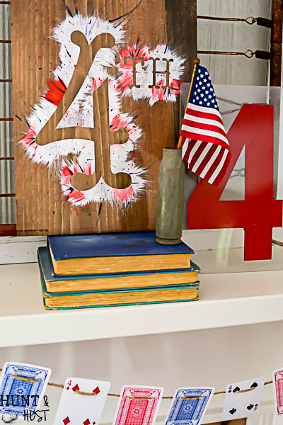 how cute is this playing card garland great 4th of july decorating ideas