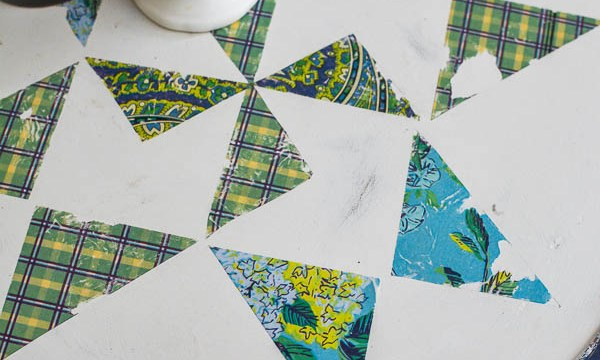 Farmhouse Lazy Susan: How to Add a Quilt