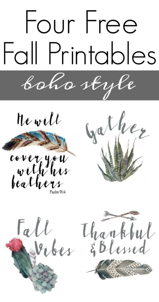 Free printable wall art for fall boho style, plus a bunch of other fall decorating ideas, like wreaths, matels and porches!