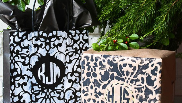 Monogram Gift Wrapping Idea