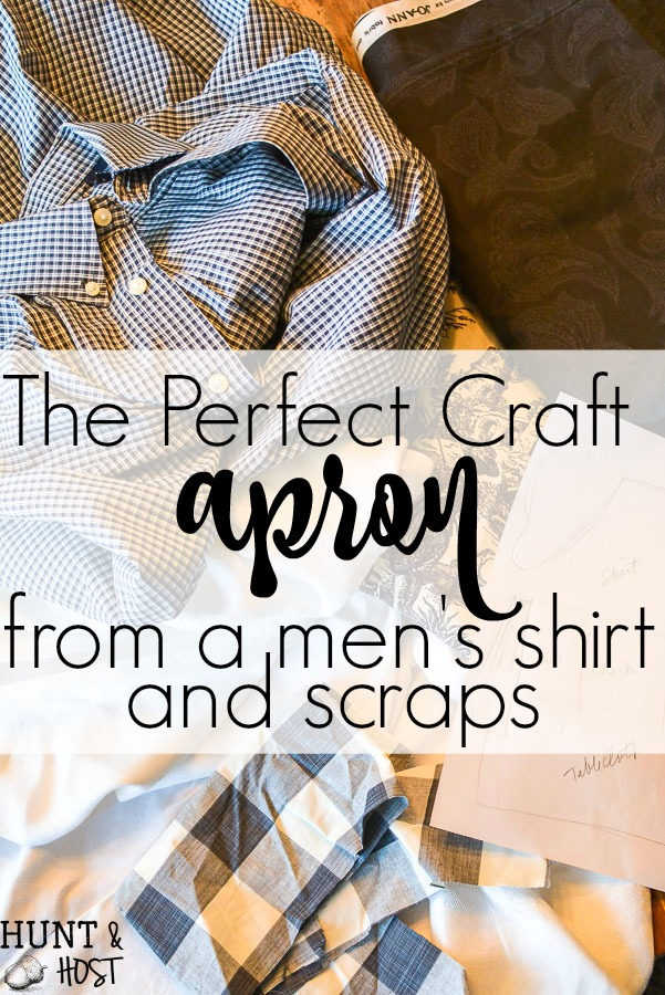 Purge to Project: Apron from old Dress Shirt - Hunt and Host
