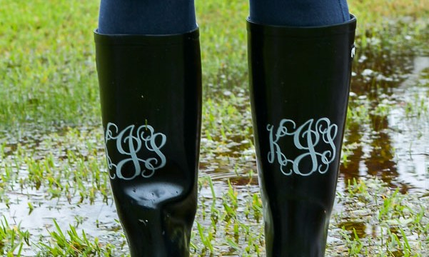 How To Monogram Rain Boots