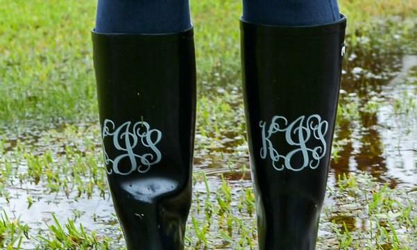 How To Monogram Rain Boots