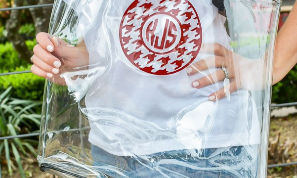 Dollar Store Monogrammed Clear Tote Bag