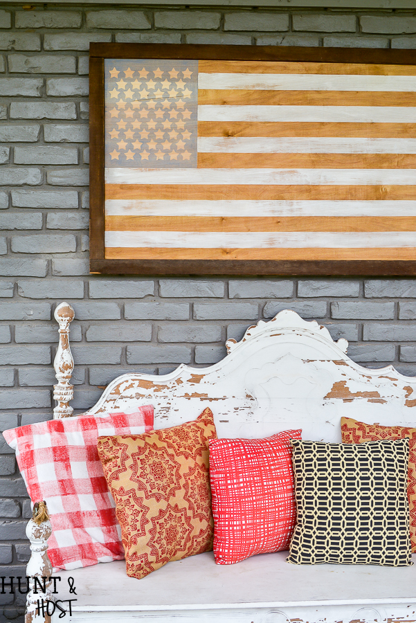 How To Make A Neutral American Flag Decor Piece, Perfect For Your Living  Room Or