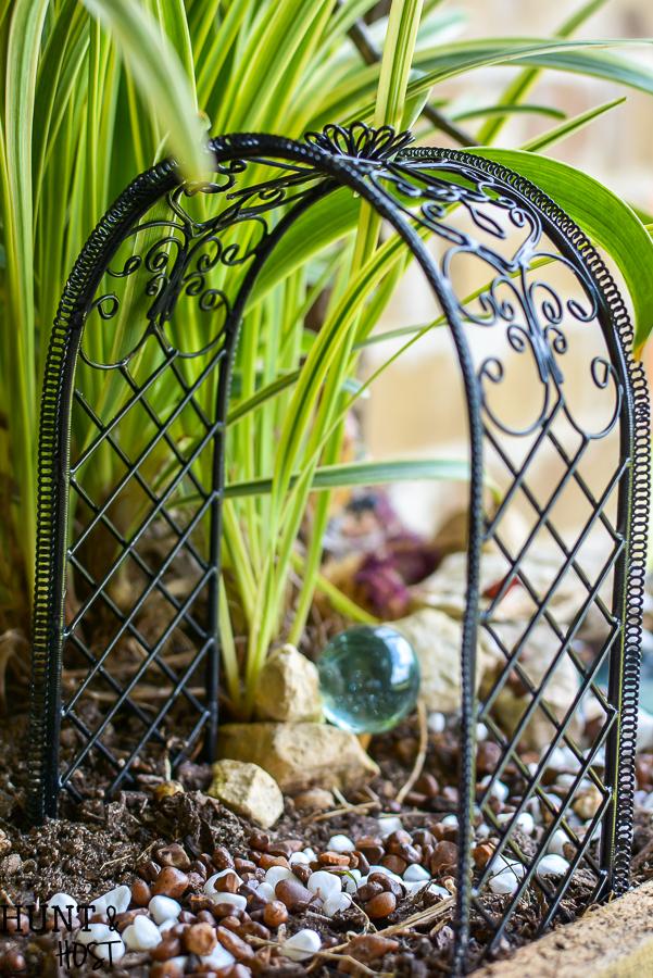 DIY Vertical Fairy Garden Idea - Hunt and Host