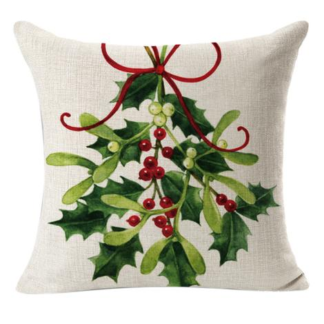 This sweet mistletoe pillow is perfect for your farmhouse Christmas decorating! order now and use code PillowLove for 15% off! #christmaspillow #mistletoe #farmhouseChristmas #frenchcountrypillow #farmhousedecor