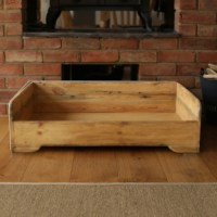 Handmade Wooden Dog Bed