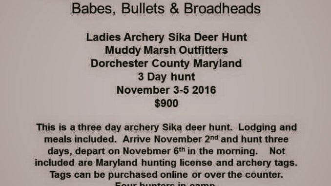 BBB Ladies Sika Deer Hunt
